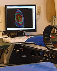 Photo of computer and plotter carriage.